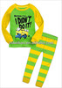 100% cotton long sleeve pajamas for children