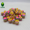 Rainbow color fancy children's clothes resin button