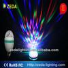 LED Rotating e27 light rgb led full color rotating lamp rotating led lamp