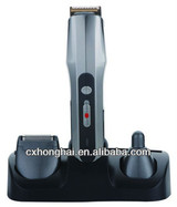 battery replaceable barber clipper with charger stand barber hair clipper low vibration electric hair clipper