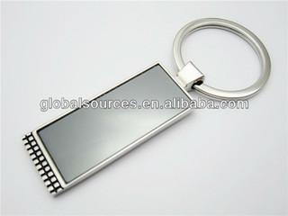 promotional rectangular zinc alloy keychain