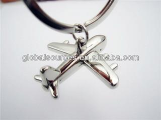 promotional metal fighter keychain warplane keyring