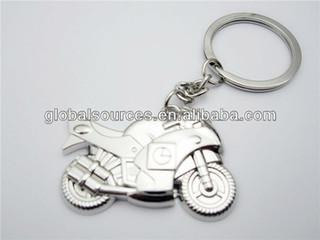 metal motorcycle key chain keyring
