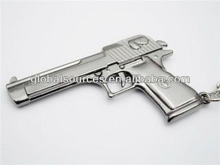 cheapest metal pistol keychain handgun key fobs