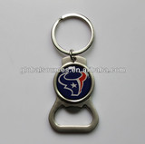 Custom zinc alloy bottle opener keyring