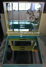 High quality lacquered mdf wooden tray with mirror