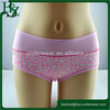 Cute fashion solid color stitching girls boxer briefs