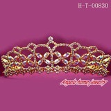 gold rhinestone comb crowns