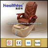 brown leather massage chair with top head cushion
