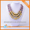 Polychrome Necklace,Layers Of The Chain Necklace,Brass Chain Necklace With Colorful Decoration