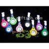 New silicone nurse watch glow in dark with plastic clip 2014