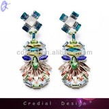 Latest Products High Quality Jewelry Trendy Design Fashion Crystal Earring Top Designs For Bridal Custom Jewelry