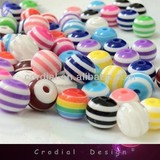 Cheap Wholesale 20MM Striped Bead 20MM Bubblegum Beads Jewelry Bead Accessories For Jewelry