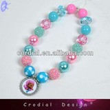 2014 Newest Fashion Color Artificial Pearl Cartoon Pendant Necklace Support Online Dribblet Wholesale
