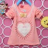 2014 spring new female children's Spring and Autumn new Korean children cotton long-sleeved T-shirt Child A003