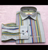 the latest stripe long sleeve new design shirts for men