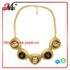 NK4609 Jingmei champagne crystal gold plated necklace jewelry 2014