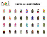 popular and new Luminous nail sticker with 32 design