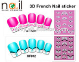 Popular 3D French nail sticker and DIY with 78 designs