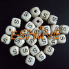 "10MM square letter beads single ""A"" letters,"