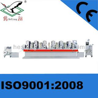 Intermittent Rotary Printer/Full-Servo label printing letterpress machine with Varnish station/UV/6 Colors printing machine /