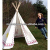 Cotton canvas kids camping teepee tents /indian tent / pop up kids tent