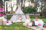 Hot sale cotton canvas children toy tent / kids house teepee tent/ wigwam