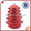 Food enamel casserole set insulated casserole hot pot