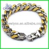 Hot sell two tone gold plated stainless steel lady's bracelets buy direct from china wholesale