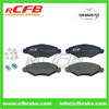 4252.12 Non Asbestos Brake Pad For Peugeot 206