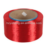 Polyester Yarn FDY 150D/36F dope dyed Red