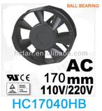HC cooling fan axial flow fan 170*50*40 AC 110V/220V/380