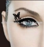 2014 standard Black Eyeliner tattoo fashion and beatiful butterfly