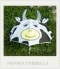 Cow Personalized Animal Shape White Kids Umbrella