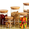 Airtight Storage Jars with Bamboo lid Wholesale