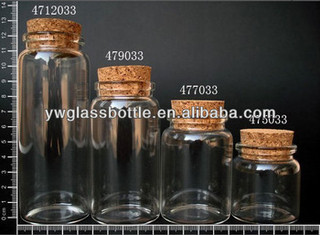 wholesale glass bottle with cork of cheap price