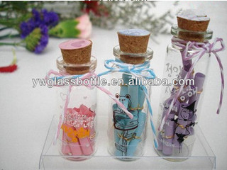 Directly produced from factory cheap glass bottles with corks