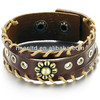 fashion jewelry real leather bracelet 316L stainless steel jewelry PH772