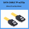 Sata 7P Straight Connector Cable with Latch