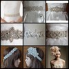 Bridal Accessories Wedding Hand Made Beads Pearls Diamond Crystal Stones Rhinestone Custom Wedding Dress Sash Waist Band Head Band