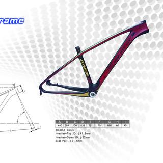Carbon Fiber MTB Frame/Carbon Fiber Bicycle Frame/Carbon Fiber Bike Frame