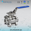 Stainless Steel 3PC Ball Valve with ISO 5211 Mounting Pad