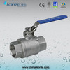Stainless Steel Threaded 2PC Ball Valve with Lock Device