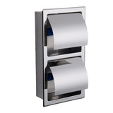 304 Stainless Steel Wall Recessed Double Toilet Paper Holder (SL-90002008)