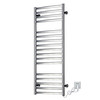 Flat Stainless Steel Tube Luxury Electric Towel Warmer Bright Finish
