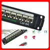 CAT6A/CAT6/Cat5e Shielded/Unshielded Patch Panel