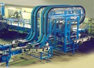 Slat Conveyor, Grip Chain Elevator, Double-Track Plastic Slat/ Plastic Slat Conveyor Curve
