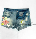 Women's Embroidery Short Jeans
