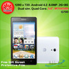 CHINA BEST BRAND Original HUAWEI G700 smart mobile phone 5.0inch dual sim with MTK6582 quad core
