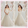 New 2014 Sexy Wedding Gown Mermaid Sweetheart Beaded Crystal Soft Tulle Wedding Dress